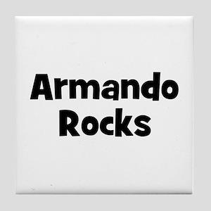 Armando Rocks Tile Coaster