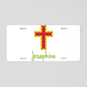 Josephine Bubble Cross Aluminum License Plate