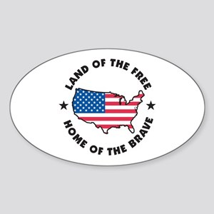 Land of the Free Oval Sticker