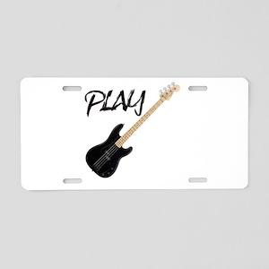 PLAY- BASS Aluminum License Plate