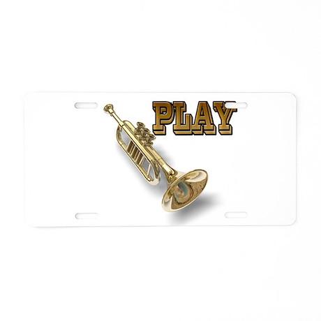 PLAY- TRUMPET Aluminum License Plate