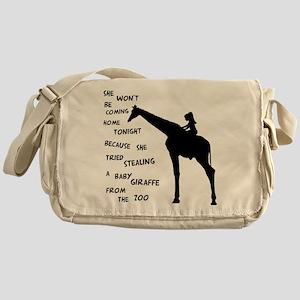Giraffenapping Messenger Bag