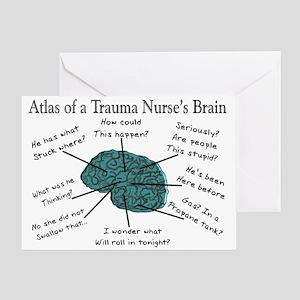 A Nurses's Brain Greeting Card