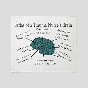 A Nurses's Brain Throw Blanket