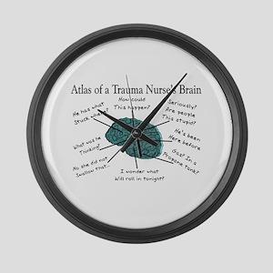 A Nurses's Brain Large Wall Clock