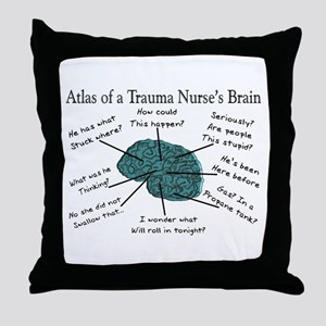 A Nurses's Brain Throw Pillow