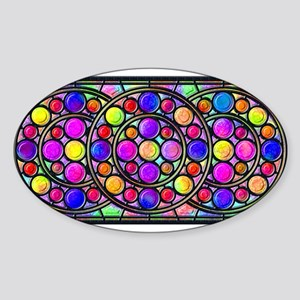 Stained Glass Window Sticker (Oval)
