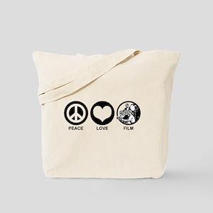 Peace Love Film Tote Bag