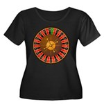 Roulette Women's Plus Size Scoop Neck Dark T-Shirt
