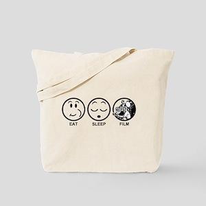 Eat Sleep Film Tote Bag