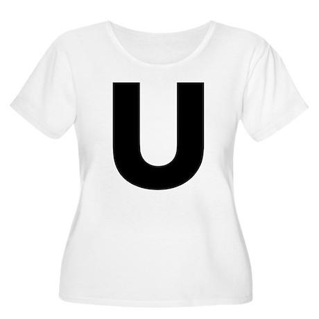 Letter U Women's Plus Size Scoop Neck T-Shirt