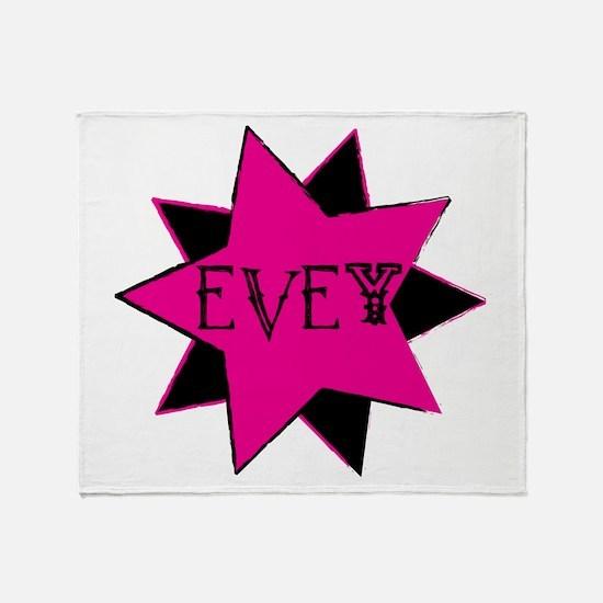 Evey Glam Rock Throw Blanket