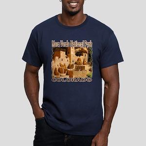 Mesa Verde National Pa Men's Fitted T-Shirt (dark)