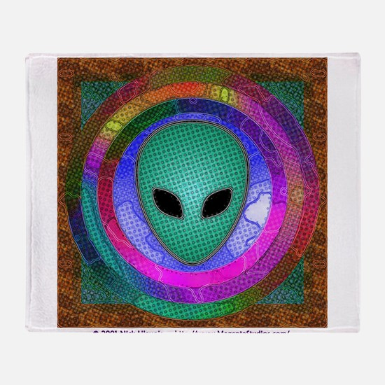Alien Head Throw Blanket