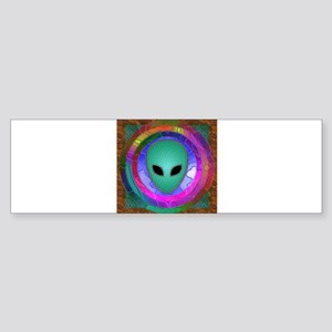 Alien Head Sticker (Bumper)