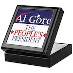 AL GORE Tile Jewelry Box / Keepsake Box