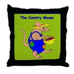 The Country Mouse Throw Pillow