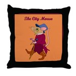 The City Mouse Throw Pillow