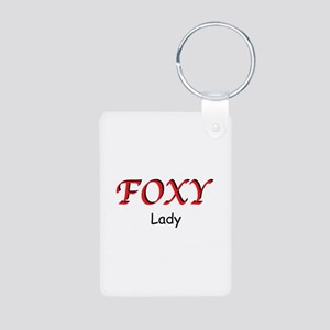 Foxy Lady Aluminum Photo Keychain