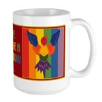 Rainbow Bird Large Mug