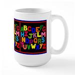 Colorful ABC Large Mug