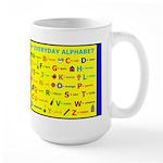 Everyday Objects ABC Large Mug