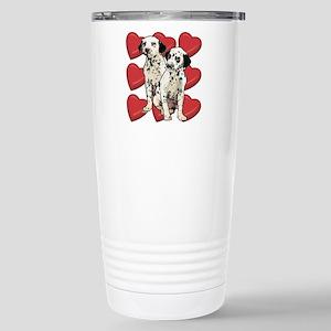 Dalmatian Puppy Love Stainless Steel Travel Mug