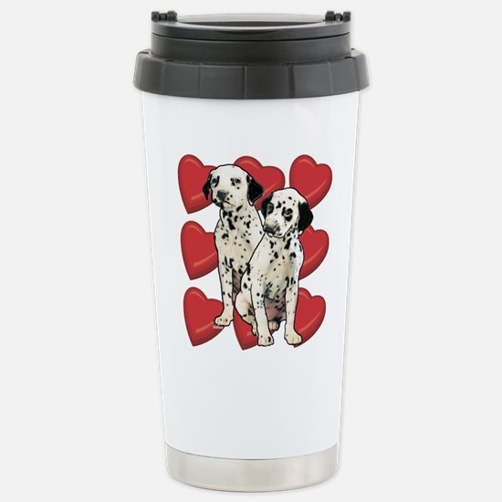 Dalmatian Puppy Love Stainless Steel Travel Mug