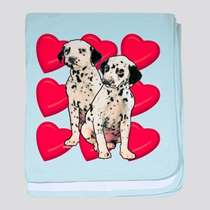Dalmatian Puppy Love baby blanket