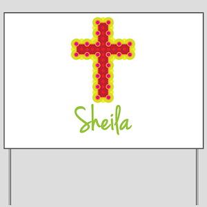 Sheila Bubble Cross Yard Sign