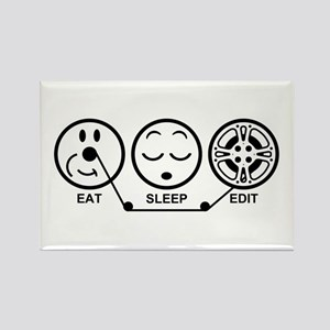 Eat Sleep Edit Rectangle Magnet