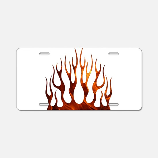 Tribal Flames Fire Aluminum License Plate