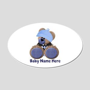Customizable Boy Bear 22x14 Oval Wall Peel