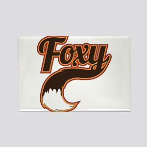 Foxy Rectangle Magnet