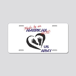Made by American Hero - Army Aluminum License Plat
