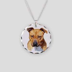 Pitbull Necklace Circle Charm