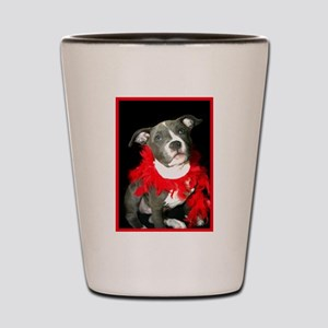 Pitbull puppy Shot Glass