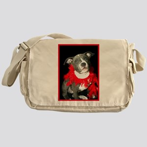 Pitbull puppy Messenger Bag