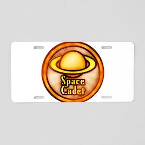Retro Sci-Fi Space Cadet Aluminum License Plate