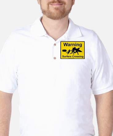 Surfers Crossing Golf Shirt