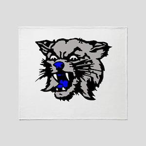 Cat Head Throw Blanket