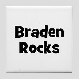 Braden Rocks Tile Coaster
