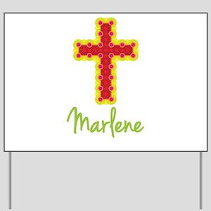 Marlene Bubble Cross Yard Sign