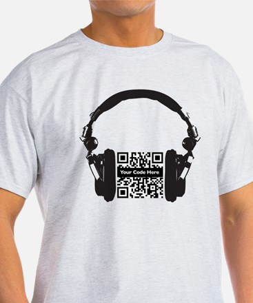 Custom QR Headphones T-Shirt