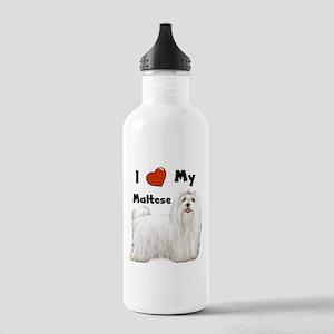 I Love My Maltese Stainless Water Bottle 1.0L