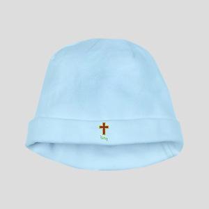 Patsy Bubble Cross baby hat