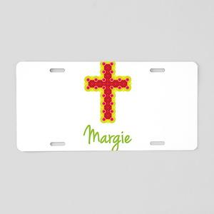 Margie Bubble Cross Aluminum License Plate