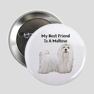 """Maltese 2.25"""" Button"""
