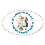 A Poor Sort of Memory Sticker (Oval)