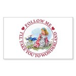 Follow Me To Wonderland Sticker (Rectangle 10 pk)